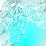 kar düşen kar kart vektör şablon dağlarla kaplı — Stok Vektör