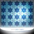 Stock Vector: Cool blue snowflakes motive vector template