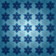 Cool blue snowflakes motive vector pattern — Stock Vector
