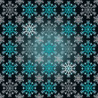 Magic dark bright wrap paper snowflake motive vector — Stock Vector