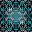 Magic dark bright wrap paper snowflake motive vector — Stock Vector #14689717