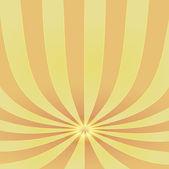 Oranžová stínované ohýbané pruhy na střed bod vektoru šablona — Stock vektor