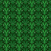 Ornamental green floral pattern wrap paper motive — Stock Vector