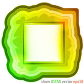 Colorful gradient decorated editable square frame vector — Stock Vector