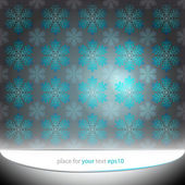 Alighted blue snowflakes motive vector template — Stock Vector