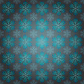 Vystoupil modré vločky motiv vektorové balicí papír — Stock vektor
