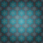 降りたブルーな雪動機ベクトル用の包装紙 — ストックベクタ
