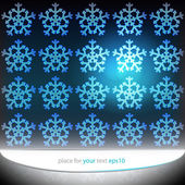 Magic lighting snowflakes motive vector template — Vector de stock