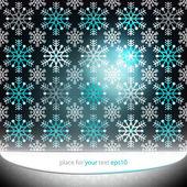 Magic dark bright snowflake motive vector template — Stock Vector