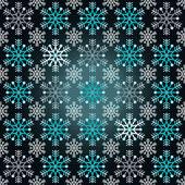 Magic dark bright wrap paper snowflake motive vector — Stock Vector