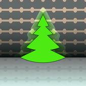 蓝灰色线性模式圣诞矢量卡上树形状 — 图库矢量图片