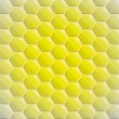 Royalty-Free Stock Vector Image: Center gold yellow alighted honeycomb vector background