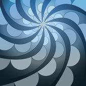 Abstract symmetric blue swirl blossom shape vector — Stock Vector