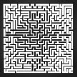Stock Photo: Labyrinth black and white perspective upper view