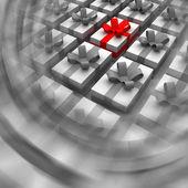 Best present box in circle blur vortex — Stock Photo