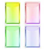 Four colored tablet screen devices for editation — Stock Photo