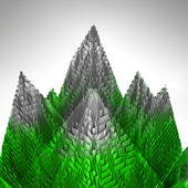 Abstrakt gröna bergen strukturen täcks isen — Stockfoto