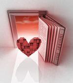 Livro do amor — Foto Stock