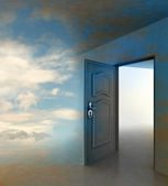 Doorway passage leading to paradise — Stock Photo