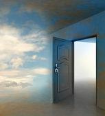 门口通道导致的天堂 — 图库照片