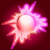 Explosive love decorated editable circle vector — Stock Vector
