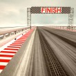 Tyre drift on race circuit finish line — Stock Photo #21196061