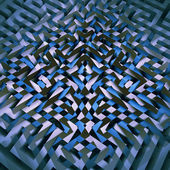 Dark blue technology connection mosaic — Stock Photo