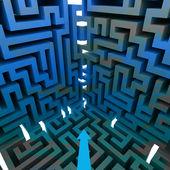 Trzy wymiarowe labirynt strukturą ścian — Zdjęcie stockowe