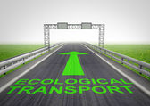 Auto-estrada de transporte ecológico com céu — Foto Stock