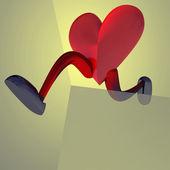 карта бегун показатель здоровья сердца — Стоковое фото