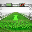 Stock Photo: Grass highway only for ecological transport
