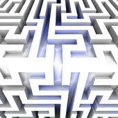 Shiny three dimensional maze block edge — Stockfoto