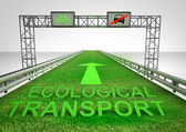 Grass highway only for ecological transport — Stock Photo