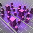 Futuristic space scifi city structure concept — Stockfoto