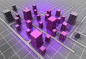 Futuristic space scifi city structure concept — Stock Photo