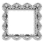 Antique floral white frame for text — Stock Photo