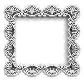 Antiguo marco blanco floral para texto — Foto de Stock