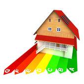 Koncepcja energii nowego budynku — Zdjęcie stockowe