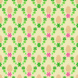 Stock Vector: Egg and pink green blossom easter pattern vector