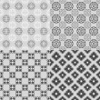 Royalty-Free Stock Vector Image: Series of four lace patters in black and white