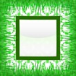 Royalty-Free Stock Vector Image: Grass square label with green background vector pattern
