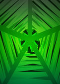 Green geometrical web structure vector — Stock Vector