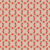 Cool red blossom circles vector pattern vector — Stock Vector