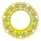 Isolated decorated golden baroque vector frame — Stock Vector