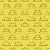 装飾は黄ベクトル レース パターン — ストックベクタ