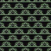 Dark vector pattern with green horizontal lace — Stockvector