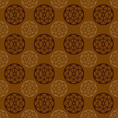 Cool brown retro circle vector pattern — Stock Vector