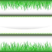 Gräs inre grön Rand Ram vektor — Stockvektor