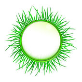 Vector de hierba aislado exterior etiqueta en blanco — Vector de stock
