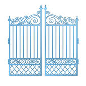 Isolated steel decorated baroque gate vector — Stock Vector
